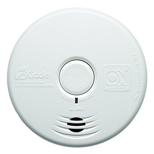 Kidde WFPCO - Detector de Humo y monóxido de Carbono (130 x 130 x 33 mm), Color Blanco