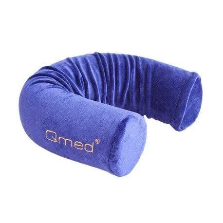 Qmed Almohada cervical Flex Pillow de 10 cm x 63,5 cm, funda de almohada de 100% poliéster | almohada flexible multiusos de espuma viscoelástica termoplástica