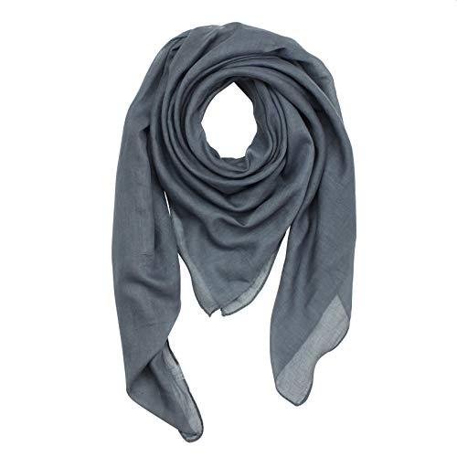 Superfreak Baumwolltuch - grau - dunkelgrau - quadratisches Tuch