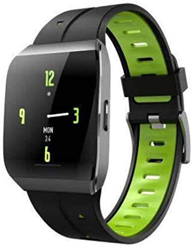 WUZHOOA Monitores de Actividad X1 Pulsera Inteligente/Tiempo de Espera de 30 días Reloj Deportivo monitoreo del Ritmo cardíaco Reloj Inteligente IP68 Modo de natación Impermeable (Color : Green)