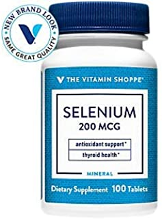 Selenium 200mcg Mineral Supplement to Support Cellular Heart Health, Once Daily Antioxidant, Gluten Free Defends Against F...
