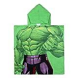 Cerdá 2200003875 Poncho Algodón Avengers Hulk, Verde, 50x115cm