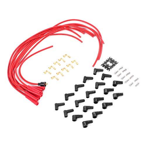 Cable de bujía de encendido, terminal de cable de encendido duradero, juego de cables de bujía, terminales de acero inoxidable de 0.3 in para sistema de encendido de grado y equipo original