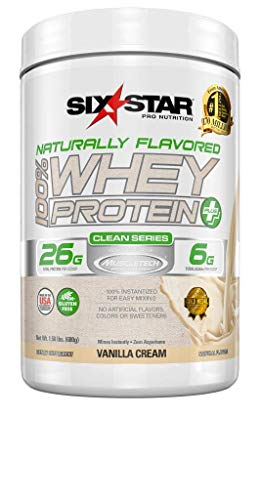 Six Star Naturally Flavored Whey Protein Plus Vanilla, 1.5 Pound, Black and Red, XS-Man