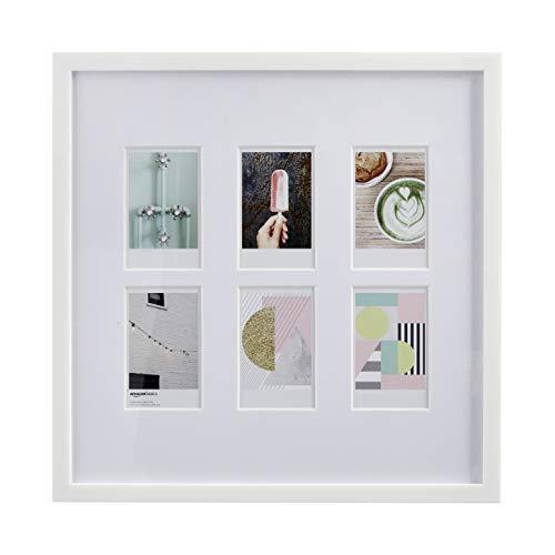 AmazonBasics - Marco de fotos de Instax, 6 huecos, 8 x 5 cm, color blanco