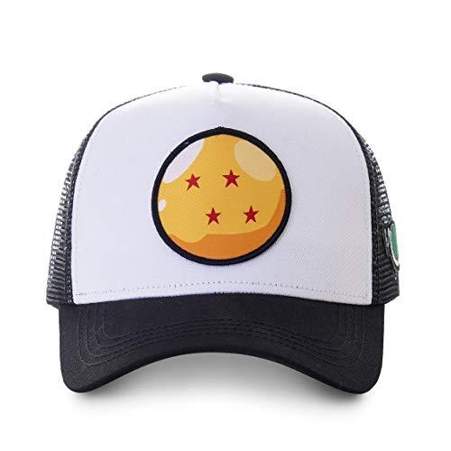 Capslab Gorra Dragon Ball 4 Estrellas CRI2 Blanco/Negro Talla Unica