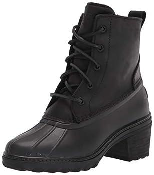 Sperry womens Saltwater Heel Leather Rain Boot Black 11 US