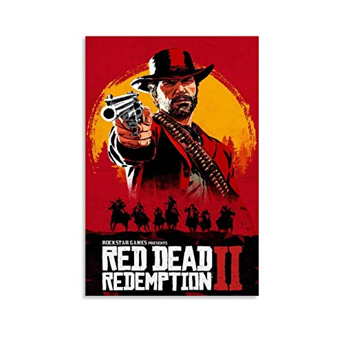 BUGUAN Red Dead Redemption 2 Póster (2) Pósteres de pintura decorativa en lienzo para pared de salón, póster para dormitorio, 20 x 30 cm