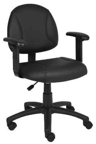 Boss Office Products Posture Task Chair with Adjustable Arms in Black