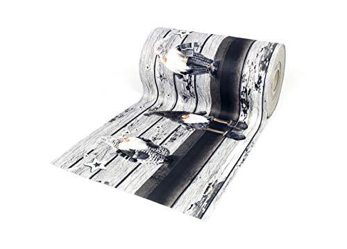 BIANCHERIAWEB Tappeto Passatoia Antiscivolo con Stampa Digitale Dis. Elfo Colore Grigio 50x180 Grigio