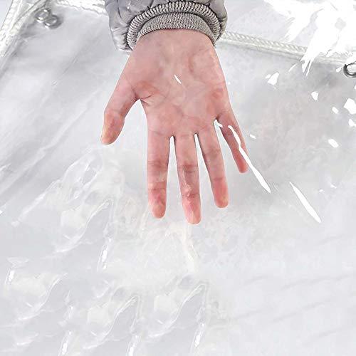Lona impermeable a prueba de viento Lona gruesa con borde envuelto Lona transparente plegable con orificio de metal Plástico de ojos para la vegetación del coche Lona de la planta del terreno de aca