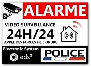 Lot de 8 Autocollants Dissuasifs « Alarme Vidéo Surveillance » Anti cambriolage pour Maison Immeuble Commerce Garage. Stic...