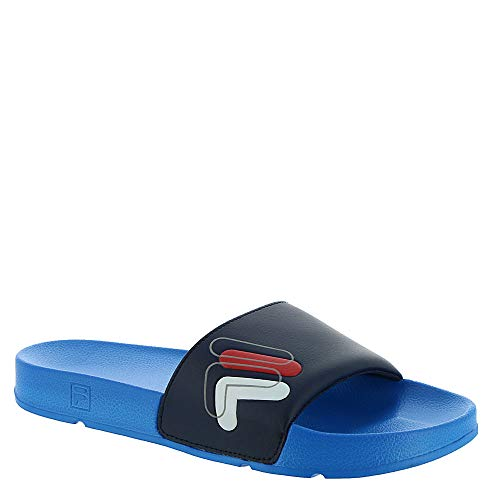 Fila Men's Drifter Double F Slides (6 M US, White/Blue/Navy)