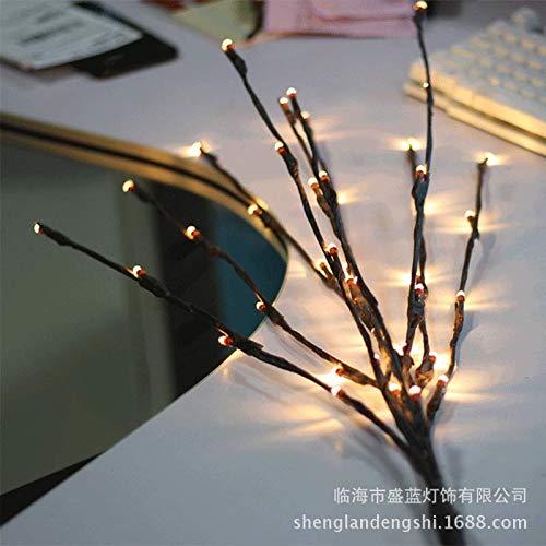 CFLFDC Kandelaar, 20 ledlampen, tak, voor bruiloft, vaas, huis, decoratie, rotan, ketting met 20 lampen