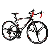 PanAme 700C Road Bike Aluminum Frame Racing Bicycle with Shimano 14-21 Speed Drivetrain...