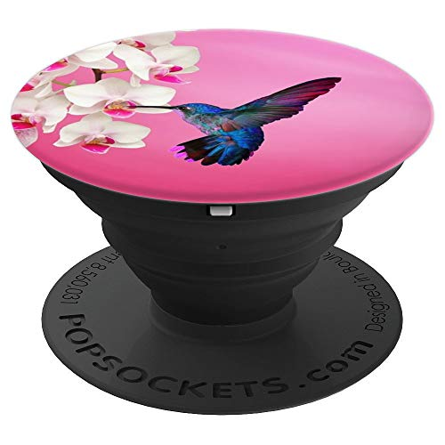 Hummingbird Flower Pop Up Hand Grip,Cell Phone Button Holder PopSockets Grip and Stand for Phones and Tablets
