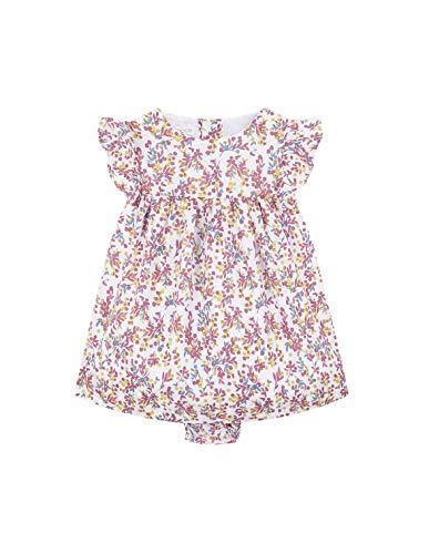 Gocco Vestido Estampado (Rosa Claro Pr), 86 (Tamaño del Fabricante:12/18) para Bebés