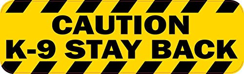 StickerTalk Caution K-9 Stay Back Magnet, 10 inches by 3 inches