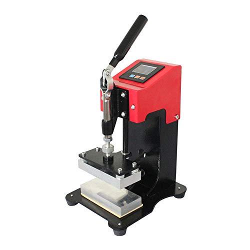 KKTECT 1T Rosin Hot Press Conveniente máquina de prensado manual pequeña 2200 libras de carga aerodinámica máxima Tiempo de ajuste manual de temperatura Camisa de colofonia prensado en caliente