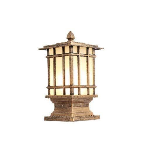 Lampe de mur extérieur, Place Extérieure Étanche Signal Lumineux,E27 Enclose Mur Pilier Lampe,Convient For Le Paysage, Mur, Cour, Extérieur Et Intérieur