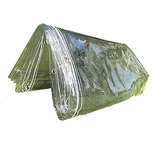 MINGJINI Lona Impermeables Transparentes para Jardín con Ojales,Toldo Resistente a la Intemperie y Plegable Duradero,Cubierta para Exterior Terraza Gazebo Plantas,AntiUV, 400g/? (1.7x2m(5.6 * 6.6ft))