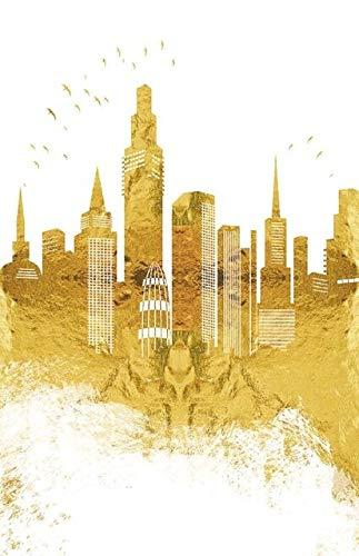 Paisaje abstracto de Golden City Pinturas de lienzo Arte