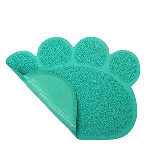 Paw Rectangle Haustiere Feet Mat Tischset Hund Katzen PVC Ausstrahlen Schlaf Zuführkontaktflächen