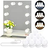 LED Vanity Mirror Lights with 10 Dimmable Bulbs 3 Color...