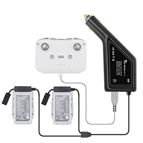 Taoke Caricabatteria da Auto per Drone Mavic Air 2 / Air 2S, Adattatore per caricabatteria per Auto per batterie DJI Mavic Air 2 / Air 2S e trasmettitore