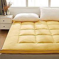 Colchón Engrosado de 6 cm de Espesor, colchón de Tatami Plegable, Dormitorio para Estudiantes Cama matrimonial Individual futón nicho Dormitorio Estera para Dormir ( Color : Yellow , Size : 90X190CM )
