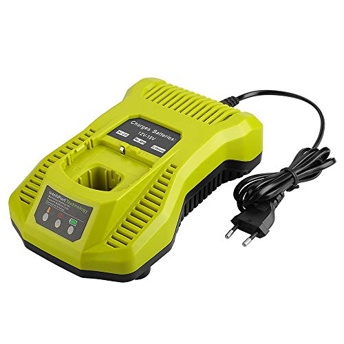 Adaskala Cargador IntelliPort de doble química para todos Ryobi 12V-18V ONE +...