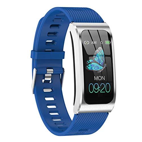 Wsaman SmartWatch Deportivo IP68 Bluetooth, Reloj Deportivo a Prueba de Agua, con Pulsómetro Sueño Podómetro para niñas niños,Pulsera Multifuncional,C