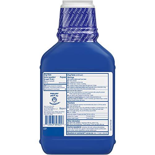 Phillips' Wild Cherry Milk of Magnesia Liquid, 26 Ounce Bottle (4 Pack)