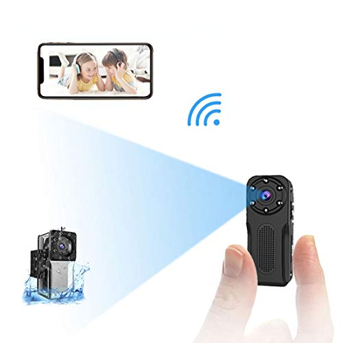 WiFi Waterproof Mini Spy Hidden Camera, NIYPS HD 1080P Covert Security Video Camera, Wireless Nanny Cam with Night Vision and Motion Detection, Portable Small Surveillance Camera for Indoor/Outdoor