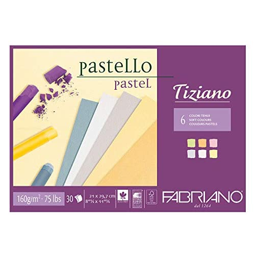 Fabriano Carta 46021297pastelli Blocchi, Cotone, Multicolore, 21x 29,7x 0,5cm