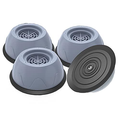 Piedini per Lavatrice,4 Pezzi Tappetino Antivibrazione per Lavatriceper,Riduce Rumore Protegge Pavimento Base più Alta e Ampia Facile da Pulire e Fondo Asciutto Stabilità(grigio,4cm/1.57in)