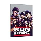 Poster RUN DMC - L'une des représentations les plus influentes de l'histoire de la culture hip-hop et l'une des plus célèbres représentations hip-hop dans les années 80 sur toile