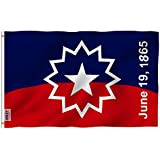 Anley Fly Breeze 3x5 Foot Juneteenth Flag - Vivid Color and Fade Proof - Canvas Header and Double Stitched - Freedom Day Flags Polyester with Brass Grommets 3 X 5 Ft