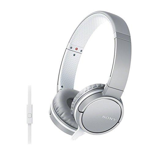 Sony MDR-ZX660AP - Auriculares Supraaurales de Diadema (con Micrófono, Control Remoto Integrado), Blanco, Talla Única