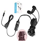 BOYA BY-M1DM Dual Lavalier Universal Microphone with a Single 1/8 Stereo Connector