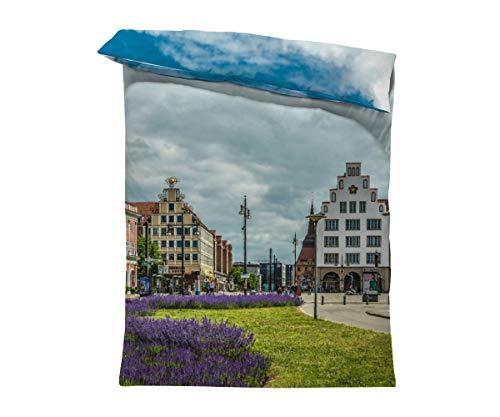 fotobar!style Bettbezug 135 x 200 cm Rostock Innenstadt
