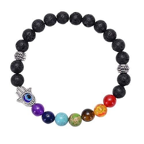 OUTANG Stretch-Armband Stein Armband Charm Perlen Armband Angst Perlen Armband Stilvolles Perlenarmband Ausgleich Perlen Armband Glücksperlen Armband 1