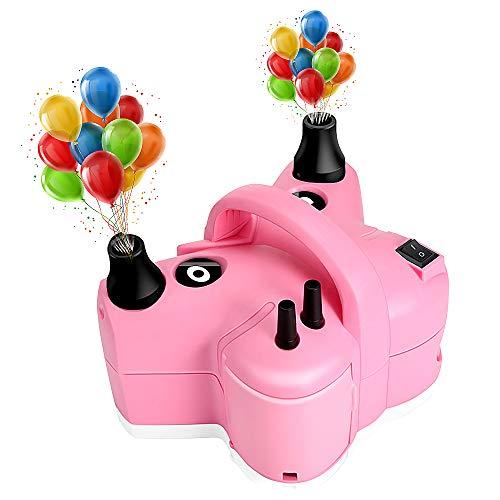 Awroutdoor Bomba de Aire Eléctrica Multifuncional para Inflar Globo, Hinchador Electrico, Bomba de Vacío Doméstica, Camas Inflables, Sofás, Bolsas de Almacenamiento - con 5 Boquillas