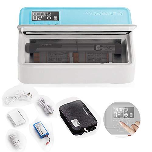 CX Best Insulinkühler Insulinthermostat Diabetic Refrigeration Medicine Kleinwagen-Heim-Gefrierschrank mit doppeltem Verwendungszweck für Camping im Freien, Reise, Heim