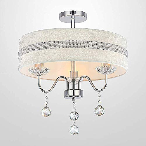 Bola de cristal colgante Luces Lámpara de techo Lámpara de lujo alumbramientos 4 luces LED restaurante lámpara del dormitorio de matrimonio Oficina de habitaciones Con lámpara antigua de la tela de la