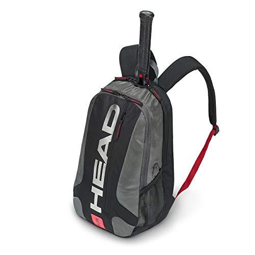 HEAD Unisex– Erwachsene Elite Backpack Tennistasche, black/red, Einheitsgröße