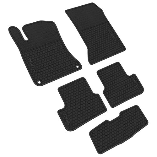 iallauto All Weather Floor Liners Replacement Mercedes Benz GLA 2014-2019 Heavy Duty Rubber Car Mats Vehicle Carpet Odorless-Full Black