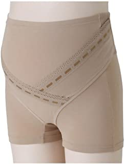 犬印妊婦帯 ベルト調節1分丈産前ガードル ベージュ マタニティL HB8366
