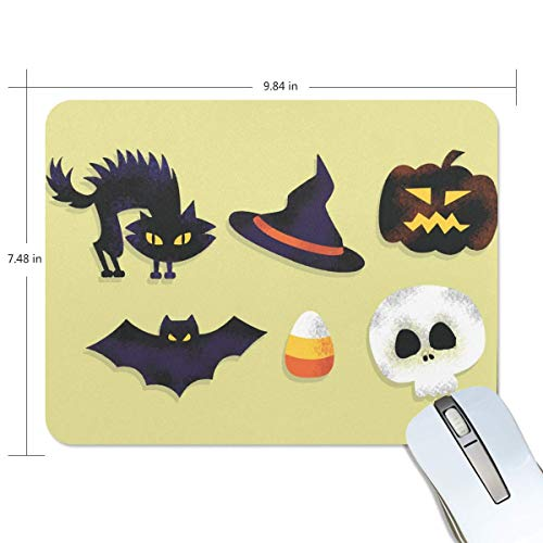 Komfort Mousepad Mauspads, Gratis Scary Halloween Premium Strukturiertes Mausmattenpad, Rutschfestes Gummibasis-Mauspad