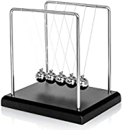 EXQUISITE WORKMANSHIP: Black well finished wood case, calm and generous, nylon strings and stainless steel frame, tough and durable, 46g each metal ball which can ensure long time swing. 60 SECONDS SWING TIME: The heavier the weight of the ball, The ...